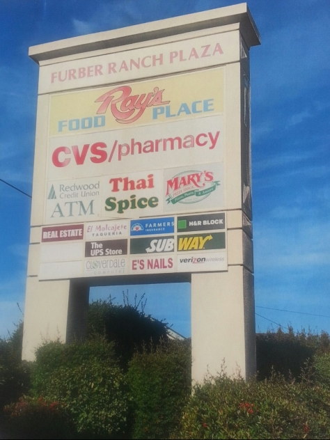Main sign Furber Ranch Plaza